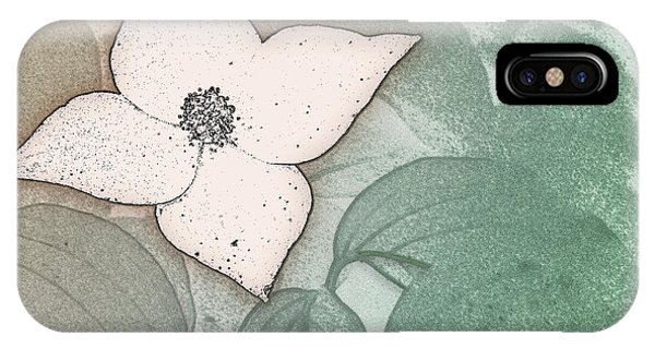 Dogwood Flower Stencil On Sandstone IPhone Case