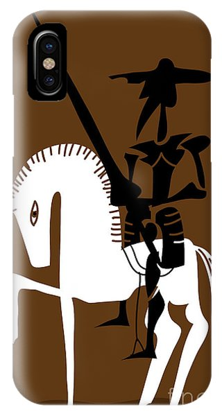 Shadow iPhone Case - Don Quixote Knight And His Horse by Complot
