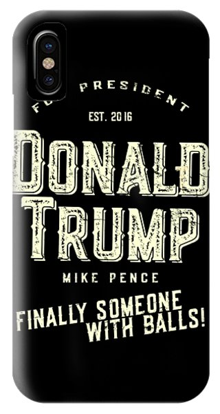 Donald Trump Mike Pence 2016 Vintage IPhone Case