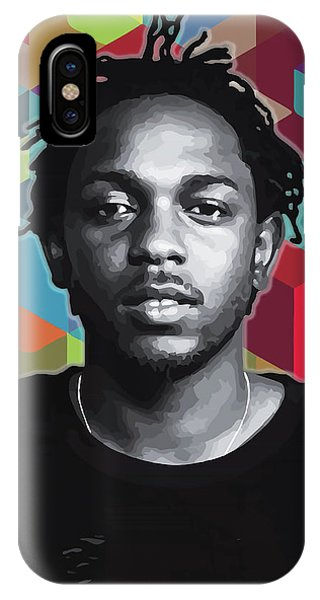 IPhone Case featuring the painting Don't Kill My Vibe Kendrick by Carla B