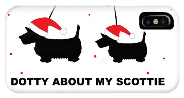 Dotty About My Scottie - Xmas IPhone Case