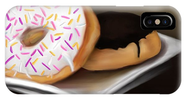IPhone Case featuring the painting Doughnut Life by Fe Jones