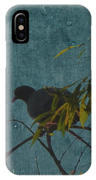 IPhone Case featuring the photograph Dove In Blue by Attila Meszlenyi