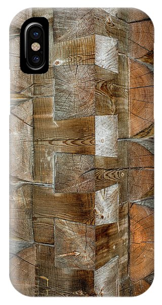 IPhone Case featuring the photograph Dovetail Notches by Fred Denner