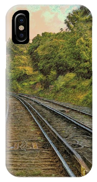 IPhone Case featuring the photograph Down The Track by Leigh Kemp