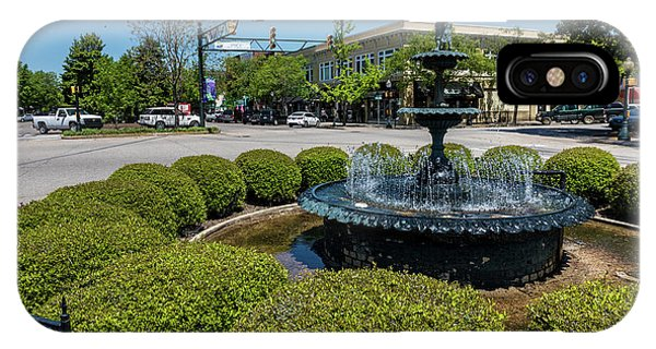 Downtown Aiken Sc Fountain IPhone Case