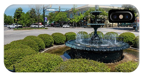 Downtown Aiken Sc Fountain IPhone Case