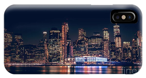 Downtown At Night IPhone Case