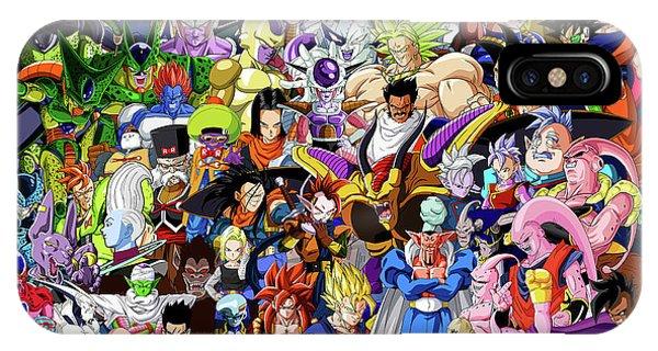 Saiyans iPhone Case - Dragon Ball Characters  by Jason Stonebanks