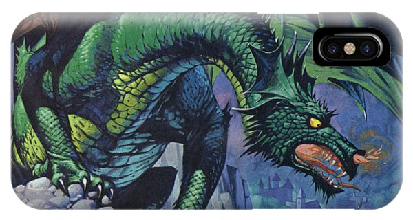 Violet Flame iPhone Case - Dragons by Angus McBride