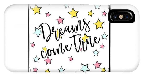 Dreams Come True - Baby Room Nursery Art Poster Print IPhone Case
