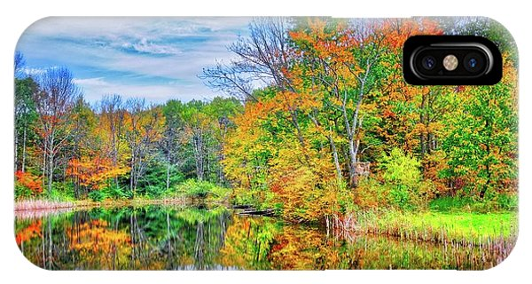 IPhone Case featuring the photograph Dreams Of Fall In The Finger Lakes by Lynn Bauer