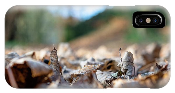 IPhone Case featuring the photograph Dried Leaves On The Ground by Scott Lyons