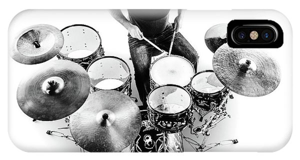 Hit iPhone Case - Drummer From Above by Johan Swanepoel