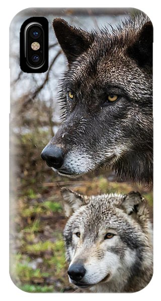 Dual Wolves IPhone Case