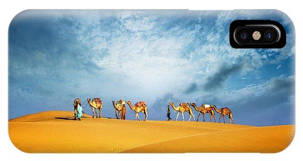 Egyptian iPhone X Case - Dubai Desert Camel Safari. Arab by Banana Republic Images