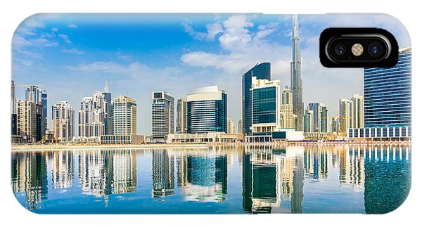Office Buildings iPhone Case - Dubai Skyline, Uae by Luciano Mortula - Lgm