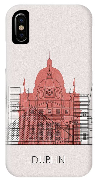 Irish iPhone Case - Dublin Landmarks by Inspirowl Design