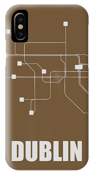 Irish iPhone Case - Dublin Subway Map 2 by Naxart Studio