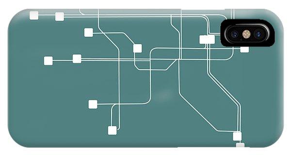 Irish iPhone Case - Dublin Teal Subway Map by Naxart Studio