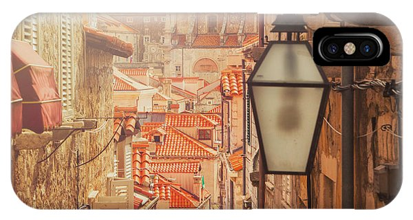 Historic House iPhone Case - Dubrovnik Old City Street View by Iascic