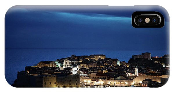IPhone Case featuring the photograph Dubrovnik Old Town At Night by Milan Ljubisavljevic