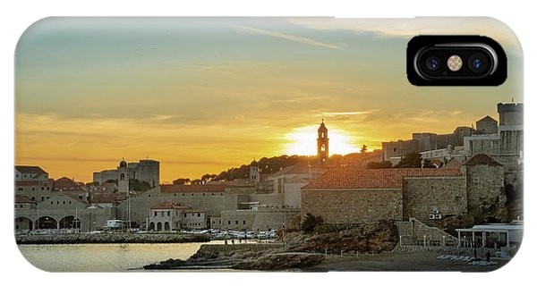 Dubrovnik Old Town At Sunset IPhone Case