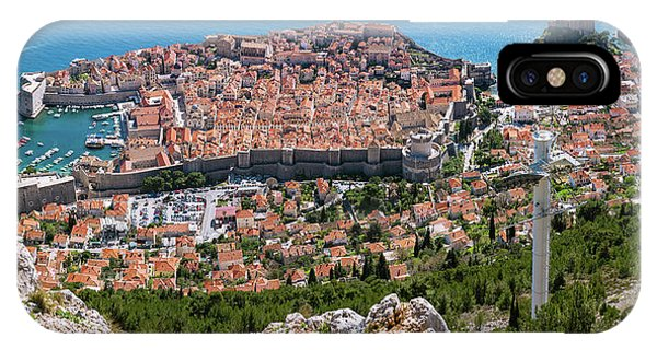 IPhone Case featuring the photograph Dubrovnik Panorama From The Hill by Milan Ljubisavljevic