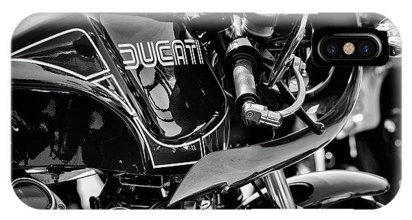 Fare iPhone Case - Ducati Mike Hailwood Replica Monochrome by Tim Gainey