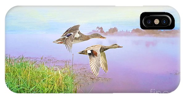 Mallard iPhone Case - Ducks On The Move by Laura D Young