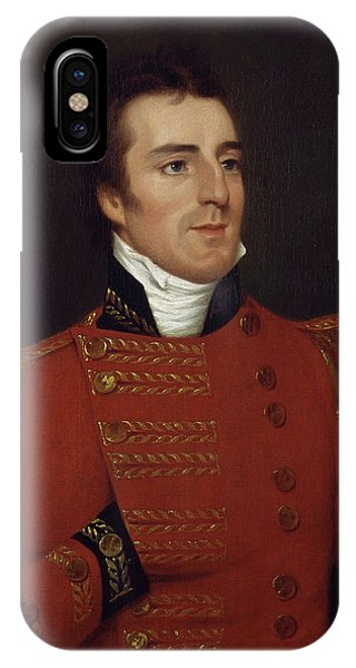 Prime Minister iPhone Case - Duke Of Wellington As A Major General - Arthur Wellesley Portrait - 1804 by War Is Hell Store