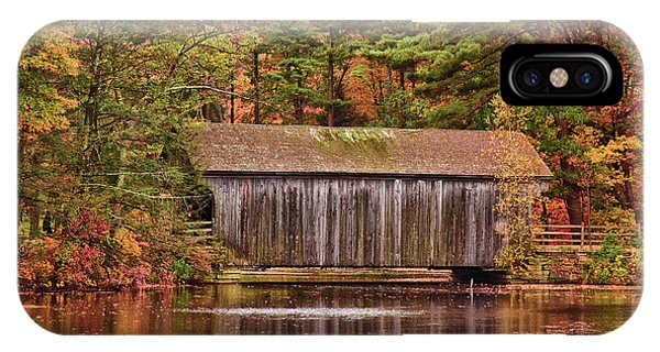 Dummerston Covered Bridge At Sturbridge Village IPhone Case