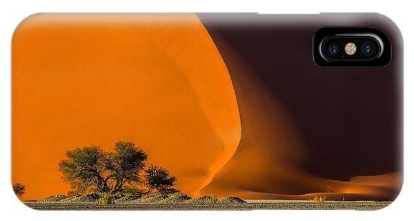 Hot iPhone Case - Dune 40 And Trees At Sunrise by Efimova Anna