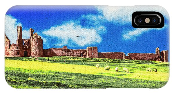 Dunstanburgh Castle In Oil IPhone Case