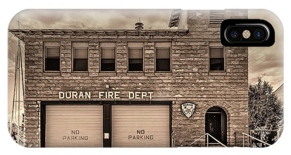 IPhone Case featuring the photograph Duran Fire Dept by Lou Novick