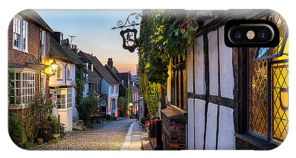English Countryside iPhone Case - Dusk At A Row Of Beautiful Old Houses by Helen Hotson