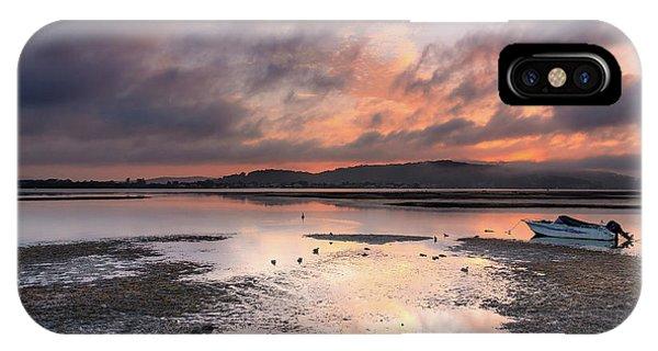 Dusky Pink Sunrise Bay Waterscape IPhone Case