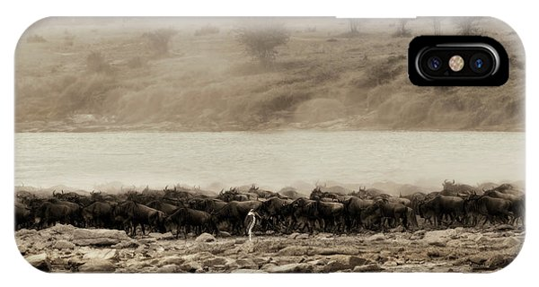 IPhone Case featuring the photograph Dust Of The Migration by Kay Brewer