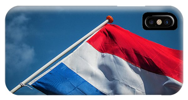 IPhone Case featuring the photograph Dutch Flag by Anjo Ten Kate