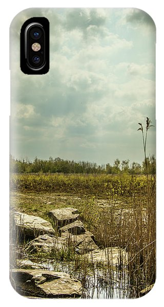 IPhone Case featuring the photograph Dutch Landscape. by Anjo Ten Kate