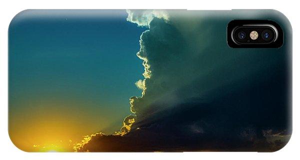Dying Nebraska Thunderstorms At Sunset 068 IPhone Case