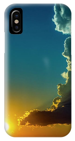 IPhone Case featuring the photograph Dying Nebraska Thunderstorms At Sunset 068 by NebraskaSC