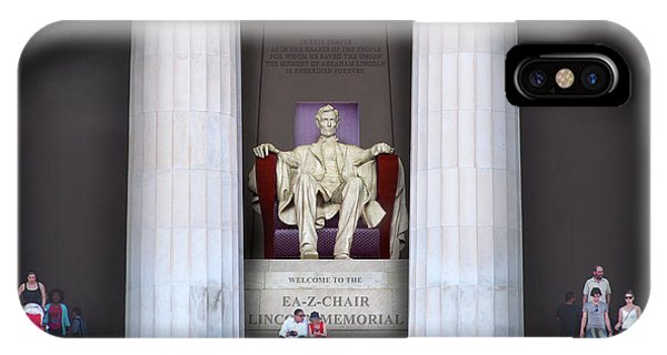 Lincoln Memorial iPhone Case - Ea-z-chair Lincoln Memorial H D by Mike McGlothlen