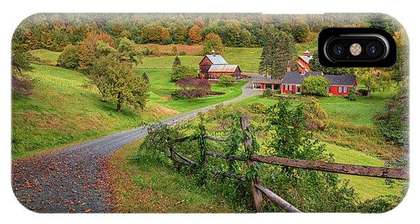 Early Fall At Sleepy Hollow Farm IPhone Case