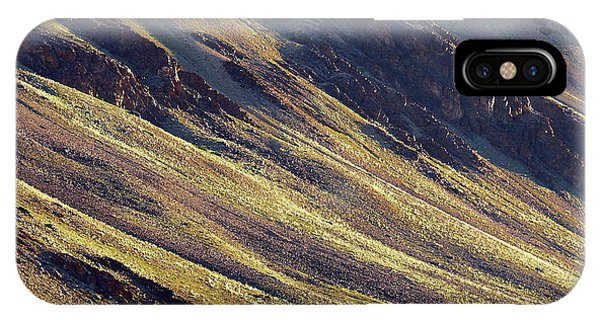 Early Morning Light On The Hillside In Sarchu IPhone Case