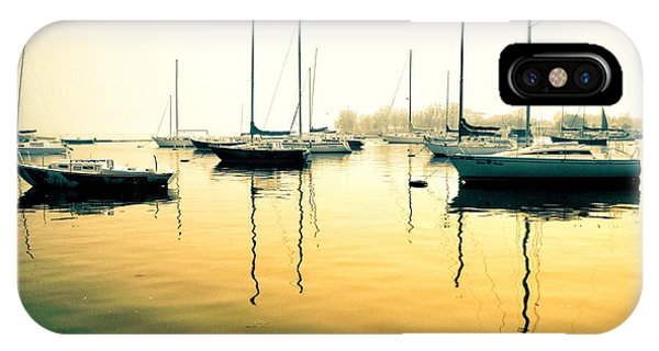 IPhone Case featuring the photograph Early Mornings At The Harbour by Geraldine Gracia