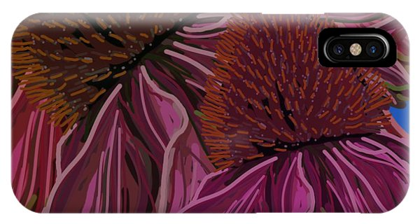 Echinacea Flower Blues IPhone Case