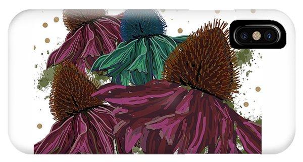 Echinacea Flower Skirts IPhone Case