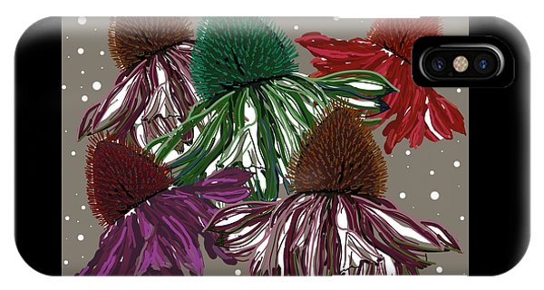 Echinacea Flowers Dance IPhone Case