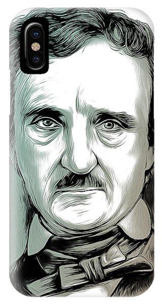 19th Century iPhone Case - Edgar Allan Poe 2 by Greg Joens
